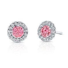 Kattan pink diamond earrings