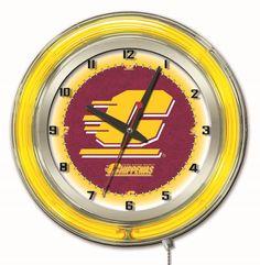 "Clock 19"" Dia. - Central Michigan University"