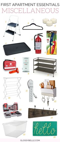 The Ultimate Guide: First Apartment Essentials // If you're about to move out into your first apartment, here are the most important miscellaneous apartment essentials you'll need to be ready to move out on your own. adulting | move out for the first time | moving out | independence | miscellaneous essentials