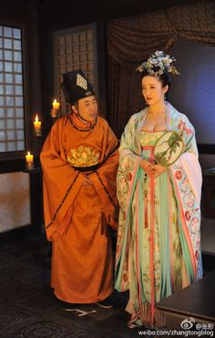 The Empress of China / Wu Zhetian - 2014 Chinese TV drama series set in the Tang dynasty era. Scene of a consort and a servant.