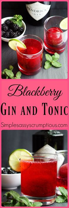A cool and refreshing take on a classic, Blackberry Gin and Tonic. Blackberry simple syrup ice cubes are added to give sweet flavor to this iconic cocktail.