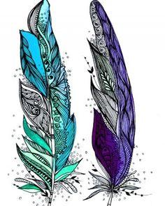Tattoo Idea (to symbolize best friends, birds of a feather..) @Jill Meyers McNamara Heather