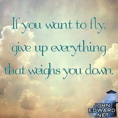 If you want to fly, give up everything that weighs you down. Inspirational Thoughts, Positive Thoughts, Photo Quotes, Picture Quotes, Wisdom Quotes, Life Quotes, Simple Reminders, Thought Provoking, Beautiful Words