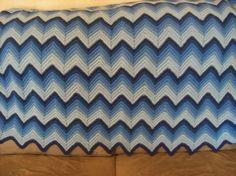 Vintage Zig Zag Crochet Afghan