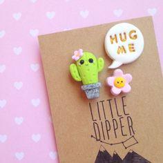 Hug Me pin collare Cactus