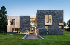 Modern meets rustic in the Hemmingford House built from natural materials Hemmingford House by SIMARD Architecture – Inhabitat - Green Design, Innovation, Architecture, Green Building