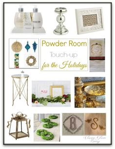 Powder Room Makeover for the Holidays | Classy Glam Living
