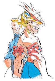 Street Fighter Zero:  Adon and Eagle