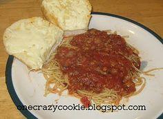 homemade pasta sauce.