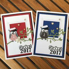 Studenterkort I dag blogger jeg bl.a. med studenterkort til de internationale studenter. Nu har jeg lavet kort nok for i år, og jeg s... Peek A Boo, Owl Punch, Marianne Design, Graduation Cards, Stamping Up, Tim Holtz, Cardmaking, Greeting Cards, Paper Crafts