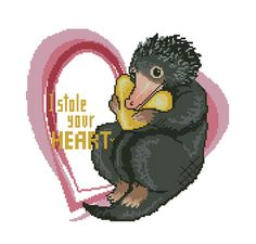 Fantastic Beasts Valentines Style Niffler Digital by LichtPatterns