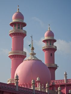 Minarets and dome of Beemapally Mosque in Kerala, India