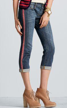 Johnny Crop Tux Jean - Bottoms, Denim - CAbi Spring 2013 Collection