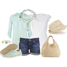 Beach Day, created by melly1376 on Polyvore