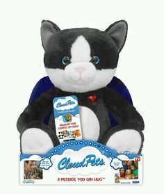 CLOUD PETS-CAT-KEEP IN TOUCH THROUGH THE CLOUD A MESSAGE YOU CAN HUG #CloudPetsCat
