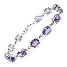 Malaika Sterling Silver 14 2/5ct Amethyst Bracelet