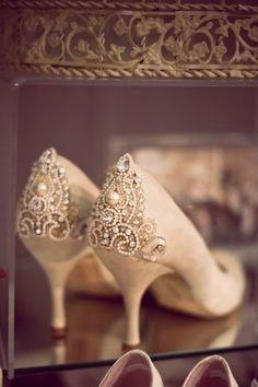 Embellished Vintage Heels
