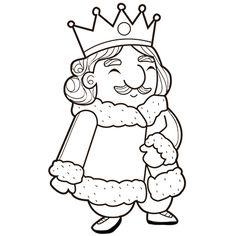 Dessin Le roi a colorier