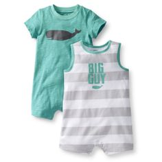 2-Pack Jersey Rompers | Carter's