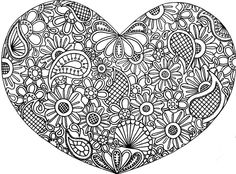 77 Best Mandala Heart Images Coloring Book Chance Coloring