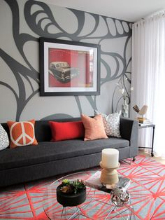 Revamp your Living Room With a Wall Mural