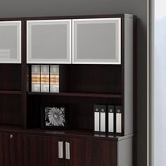 36 Bookcase Hutch with Silver Doors - $259
