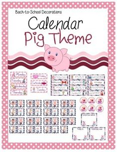 This is a PigThemed Calendar Set used to decorate and educate in your classroom. The calendar will go great with any Pig or Farm themed classroom.