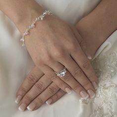 Dainty Swarovski Crystal Bridal Bracelet - lovely!