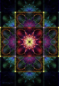Raw Fractal - Floral Panel by *Shadoweddancer on deviantART Fractal Design, Fractal Art, Fractal Geometry, Sacred Geometry, Sacred Art, Art World, Kinder Art, New Media Art, Computer Art