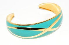 Vintage 1970s Wide Open Cuff Bracelet Shiny by VintageMeetModern, $14.00