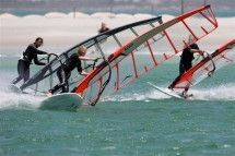 Windsurfing - Cape Sports Center. Cape Sports has been teaching, renting and selling windsurfing since 1993. Situated in Langebaan on the West Coast. Up to date equipment to rent guarantees a great water sport experience. We also offer kitesurfing, kiteboarding, surfing, SUP and sea kayaking.