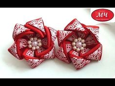 MK rezinochki with the colors of rep tape. Diy Lace Ribbon Flowers, Ribbon Flower Tutorial, Ribbon Embroidery Tutorial, Hair Bow Tutorial, Kanzashi Flowers, Ribbon Art, Diy Ribbon, Fabric Ribbon, Ribbon Crafts