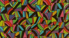 Vintage 60s Mod Abstract Cotton Velvet Fabric by retrofitpattern