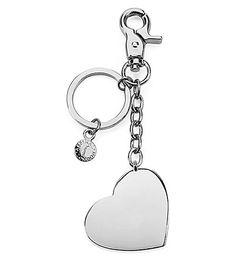 ASPINAL OF LONDON Silver-plated heart keyring