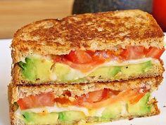 Avocado, Mozzarella and Tomato Grilled Cheese!