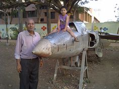 Grand Father and Flying Grand Son at Thorat Udyan, Kothrud, Pune