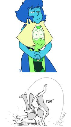 This is how I think lapidot would end up being like, Lapis HATES Peri, so it wouldn't work very well