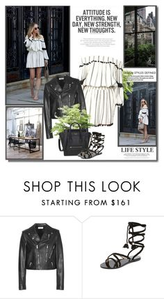 """""""Attitude is everything. New day, new strength, new thoughts!!"""" by lilly-2711 ❤ liked on Polyvore featuring Yves Saint Laurent and Raye"""
