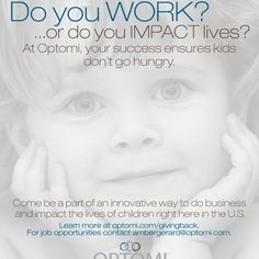 Come join the Optomi family & GIVE BACK to your community with your every day work!
