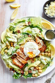 Salmon & Avocado Caesar Salad   Community Post: 15 Fabulous Ways To Eat Fish For Dinner