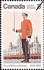 Canadian Postal Archives Database    Postal Administration: Canada     Title: Wing Parade - Royal Military College of Canada    Denomination: 8¢     Date of Issue: 1 June 1976