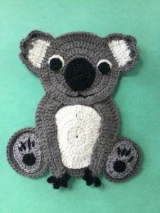 Finished crochet koala portrait