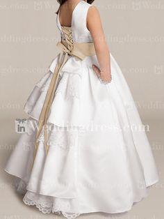 Princess Flower Girl Dresses_Light Ivory/Cafe