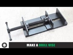 This time i'm going to show you how to make a metal mini drill vise.s flat and L-angles for making this vise. This drill vise is v. Diy Welding, Welding Tools, Metal Working Tools, Metal Tools, Metal Projects, Welding Projects, Homemade Tools, Diy Tools, How To Make Metal