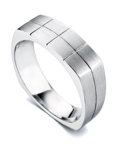 """Absolute"" Men's Wedding Band - Mark Schneider Design"