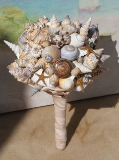Starfish and Seashell Bouquet For Seaside, Beach, Destination, Cruise Wedding