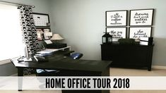 Home Office Tour 2018 - YouTube