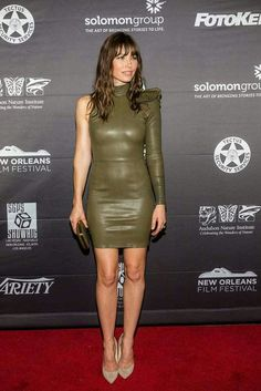 jessica biel outfits best outfits - Page 7 of 85 - Celebrity Style and Fashion Trends Leather Mini Dress, Leather Dresses, Leather Skirts, Celebrity Red Carpet, Celebrity Style, Actress Jessica, Jessica Alba, Jessica Biel Bikini, Red Carpet Looks