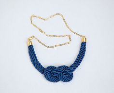 Knot necklace, nautical and adorable