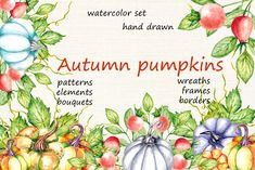 This set of high quality hand painted watercolor pumpkins Images. It's perfect for thanksgiving greeting cards, posters, autumn wedding Thanksgiving Flowers, Thanksgiving Greeting Cards, Thanksgiving Art, Thanksgiving Decorations, Pumpkin Bouquet, Pumpkin Wreath, Fall Pumpkins, Halloween Pumpkins, Pumpkin Images